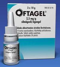 OFTAGEL 2,5 mg/g silmägeeli 3x10 g