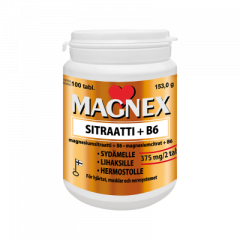 Magnex Sitraatti 375mg + B6 100 tabl