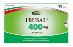 IBUSAL 400 mg tabl, kalvopääll 10 fol