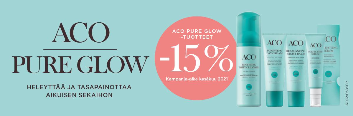 aco pure glow tuotteet -15 % kesäkuun ajan